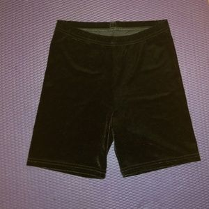 American Apparel Black Velvet Bike Shorts